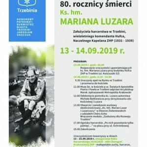 Uroczyste obchody 80. rocznicy śmierci ks. jm. Mariana Luzara