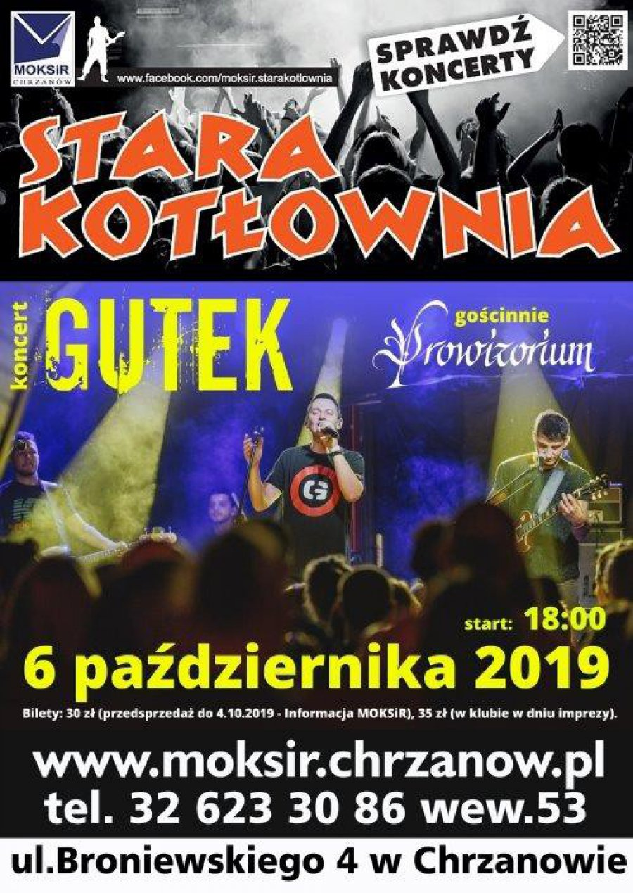 Gutek - koncert w Starej Kotłowni