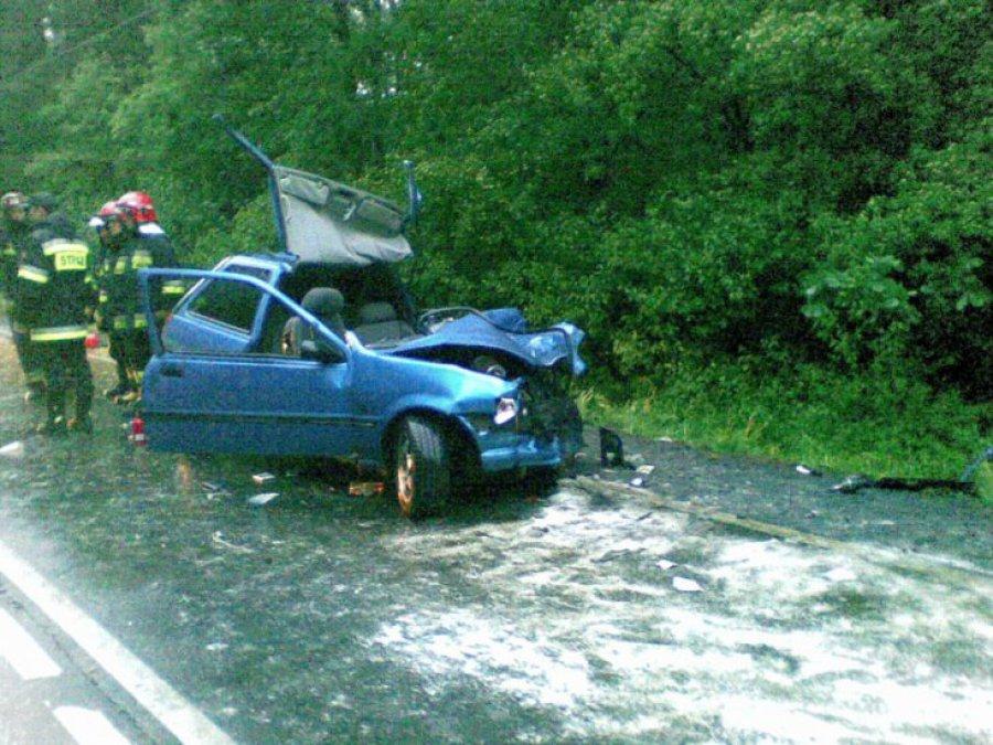 16 osób rannych w wypadku w Brodłach