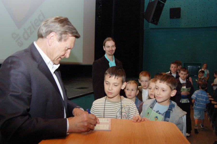 Profesor Balcerowicz dyskutował z dziećmi o pieniądzach