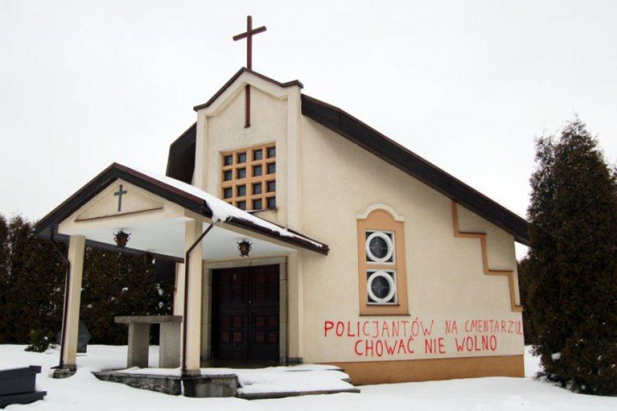 Wandale znów szpecą ściany kościołów