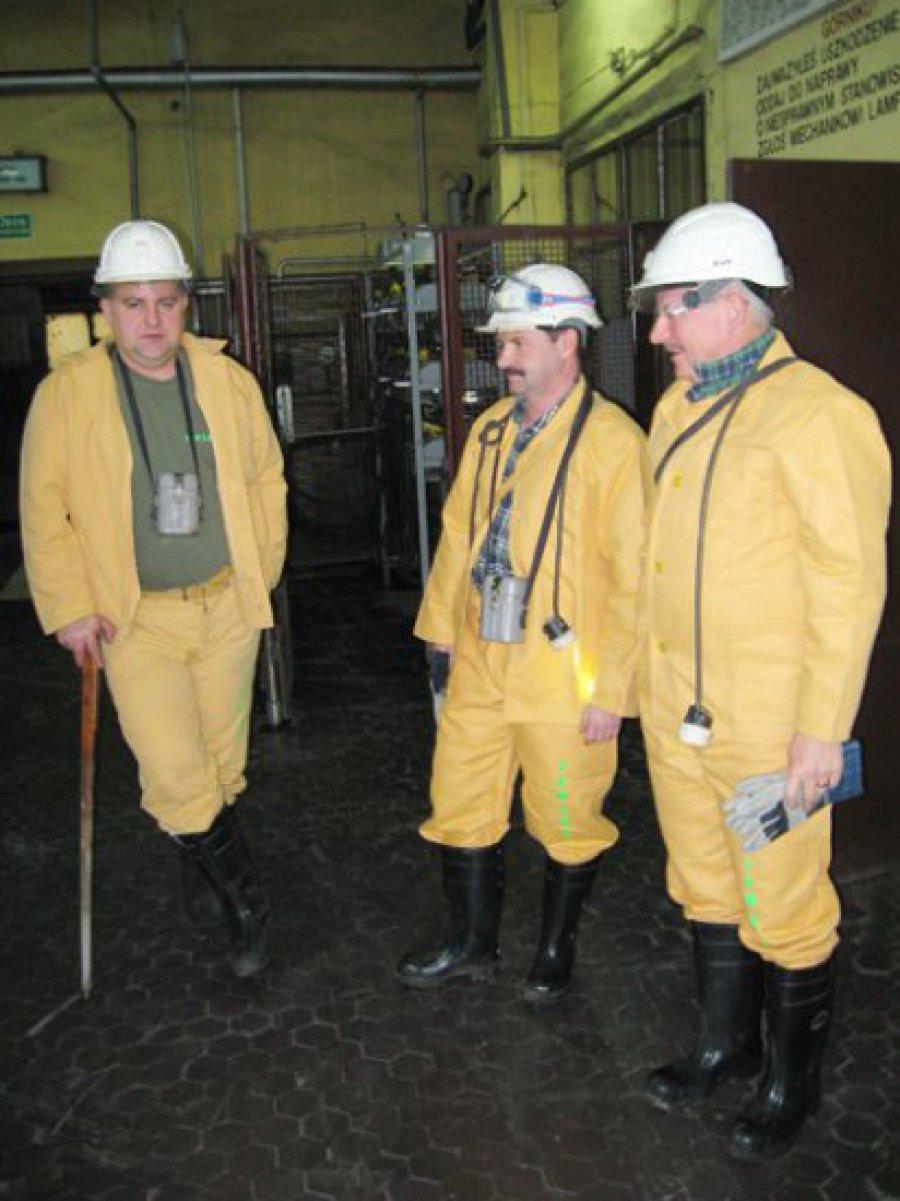 Poseł Arkit odwiedził górników z Janiny