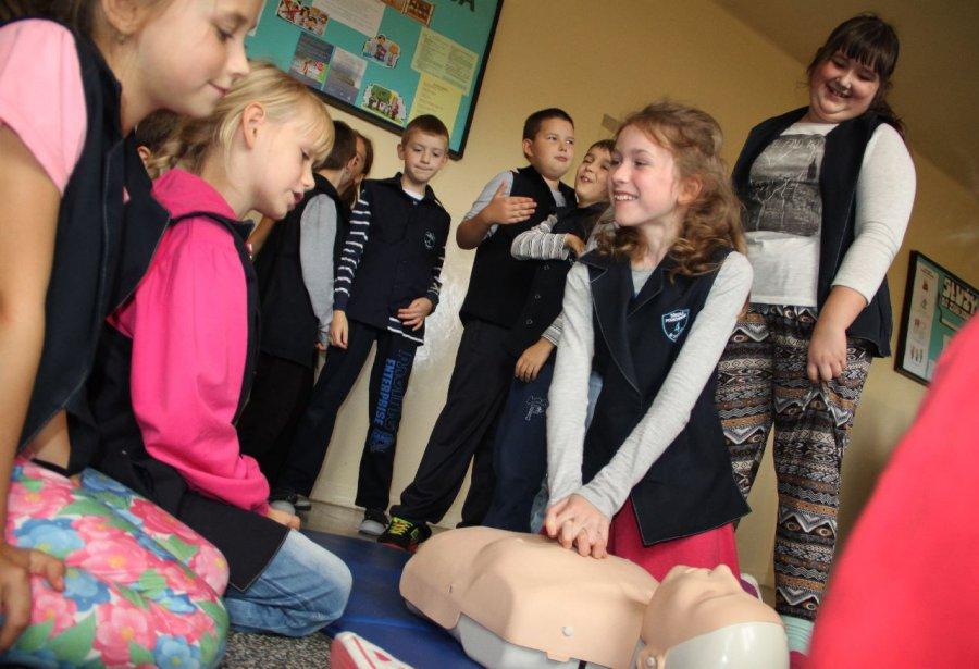 Uczniowie z Trzebini brali udział w biciu rekordu
