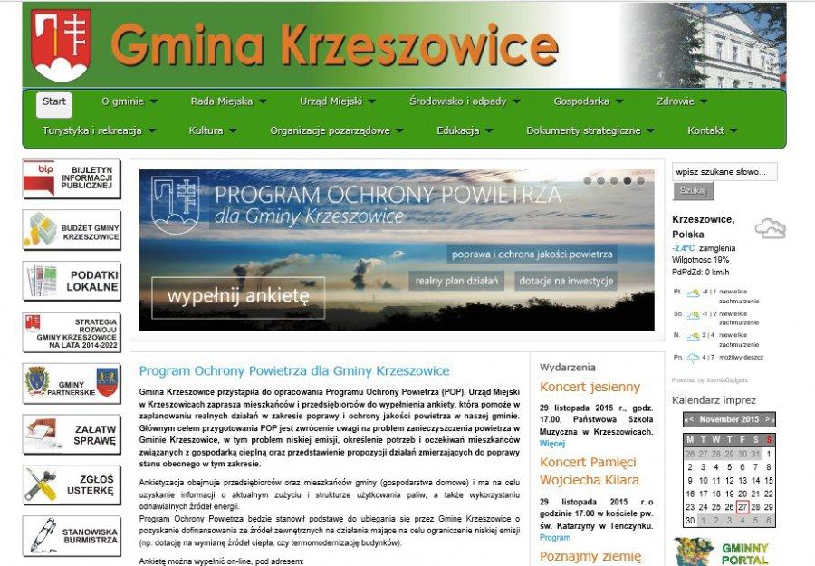 Program Ochrony Powietrza dla Gminy Krzeszowice - ankieta dla mieszkańców i przedsiębiorców