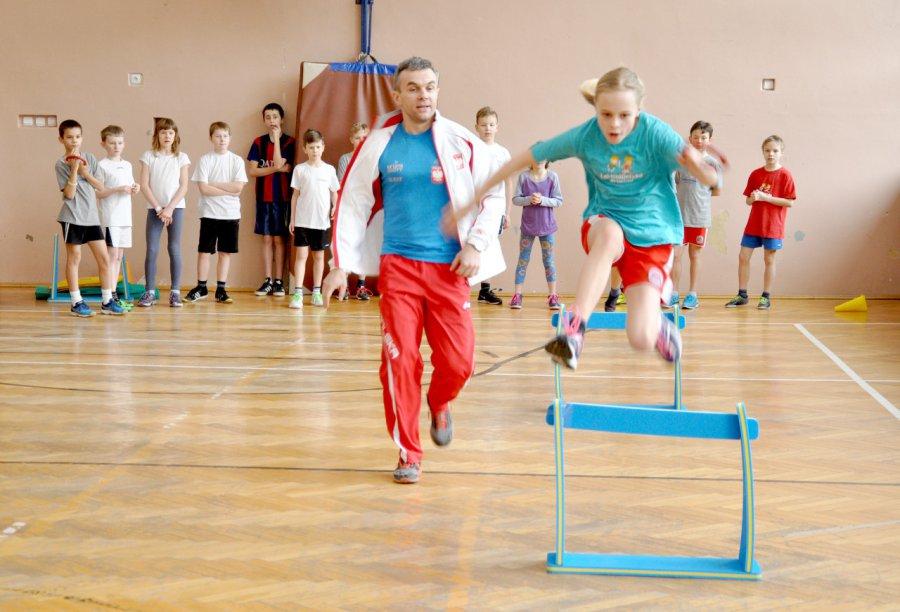 Olimpijczyk trenował z uczniami