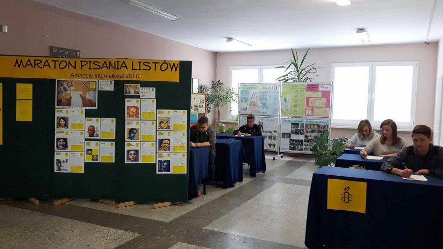 Maraton Pisania Listów Amnesty International w Zespole Szkół w Libiążu