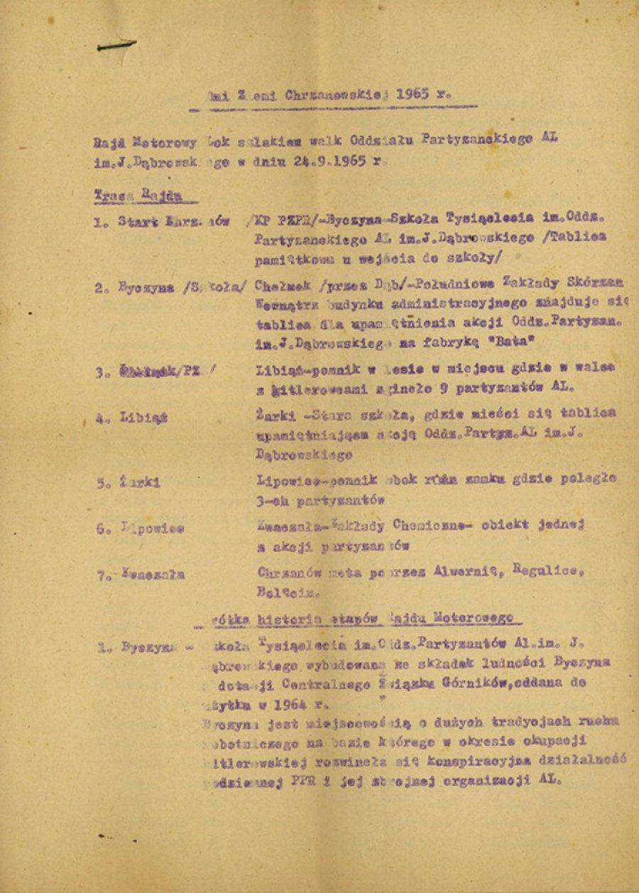 Na ziemi chrzanowskiej upamiętniano tylko partyzantów z Armii Ludowej
