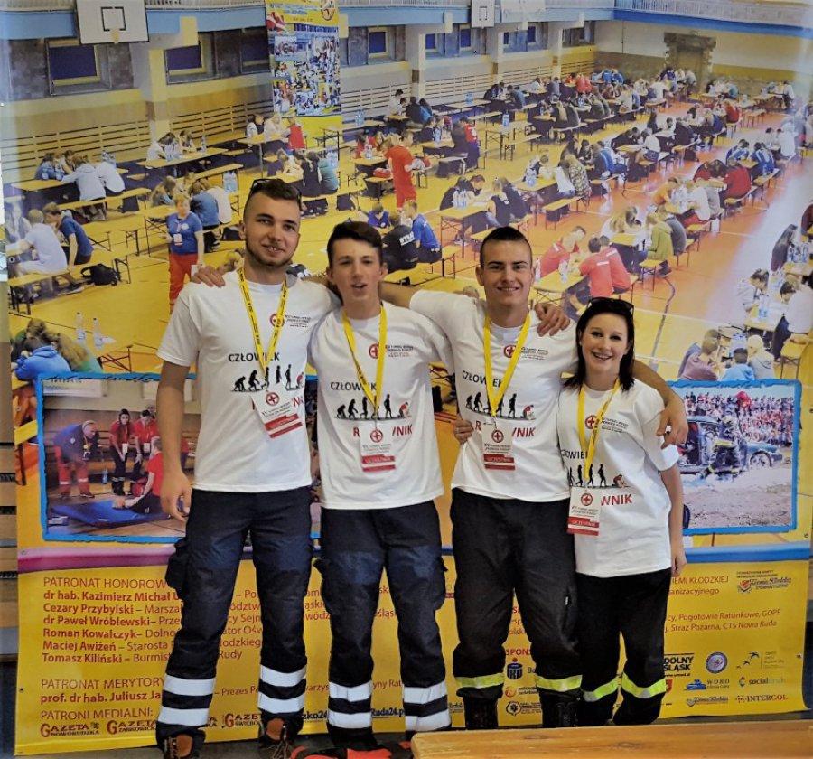 III miejsce ratowników z Zespołu Szkół w Libiążu w XV Ogólnopolskim Turnieju Wiedzy PIERWSZA POMOC