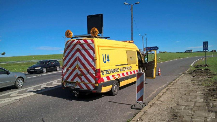 Po wypadku A4 jest zablokowana