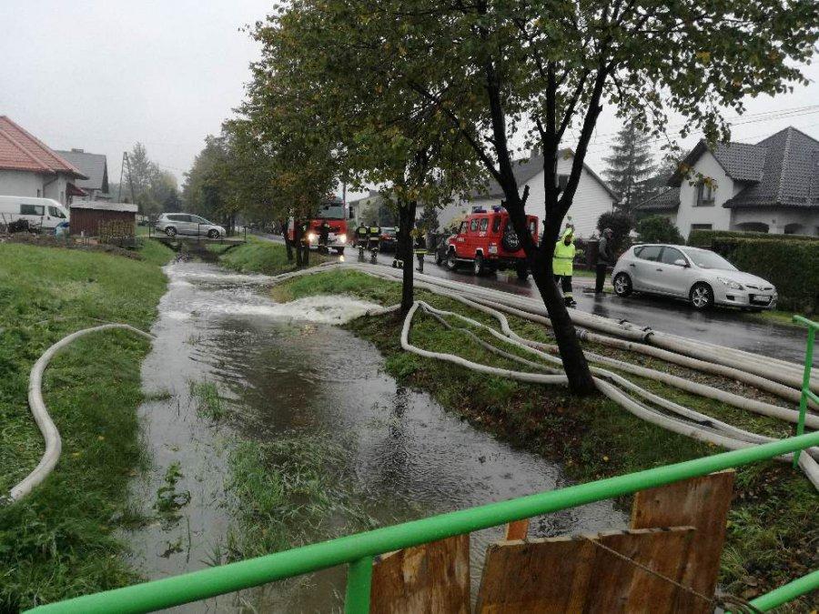 Woda wdarła się do budynków