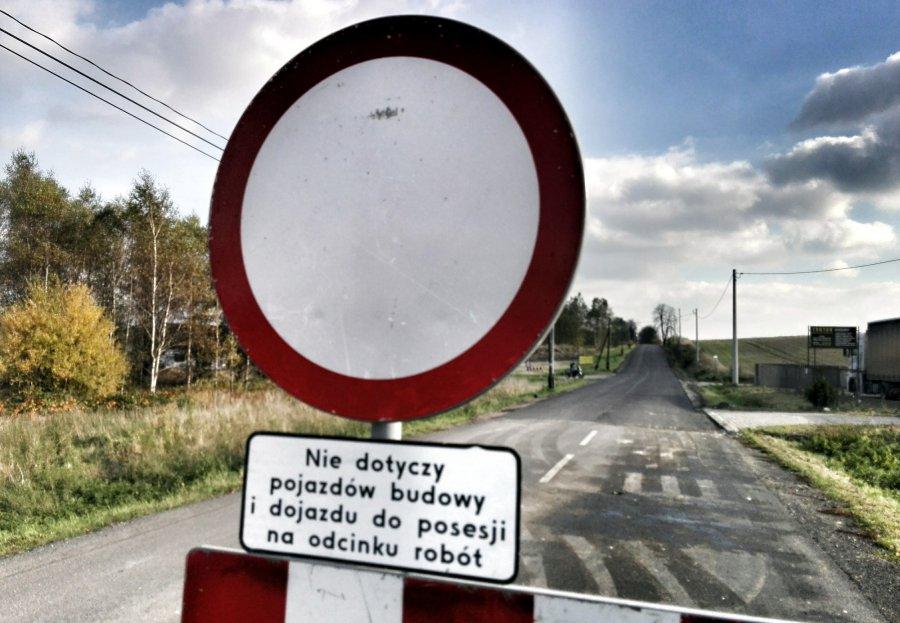 Droga do Alwerni jest zamknięta