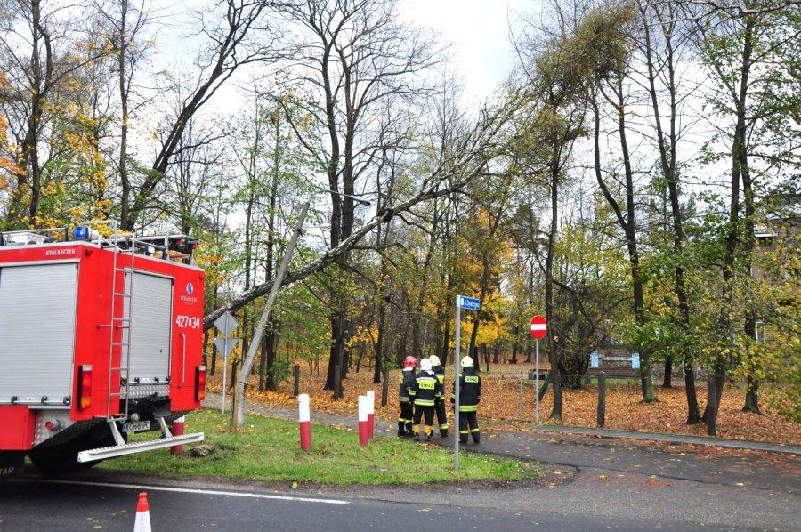 Strażacy usuwają skutki wichury