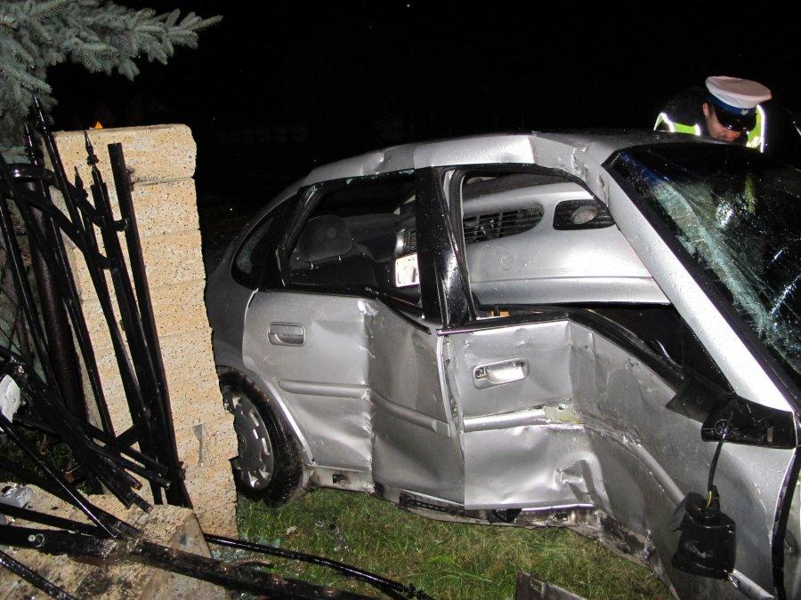 Kierowca pijany, pasażer ranny