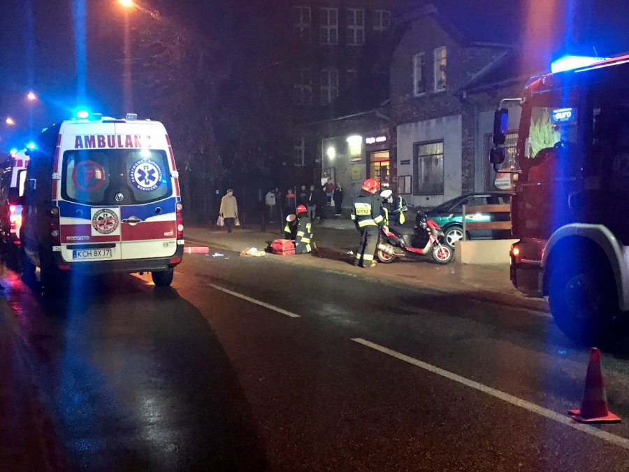 Wypadek na Grunwaldzkiej w Trzebini. Jedna osoba ranna