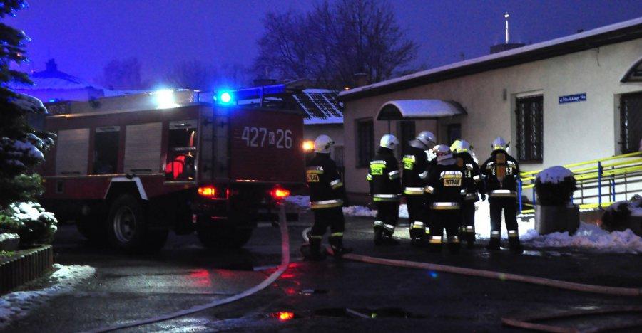 Ogień w budynku urzędu miasta
