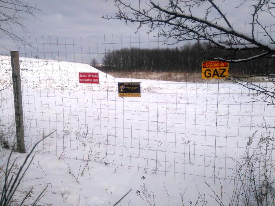 Uwaga gaz - zakaz używania ognia