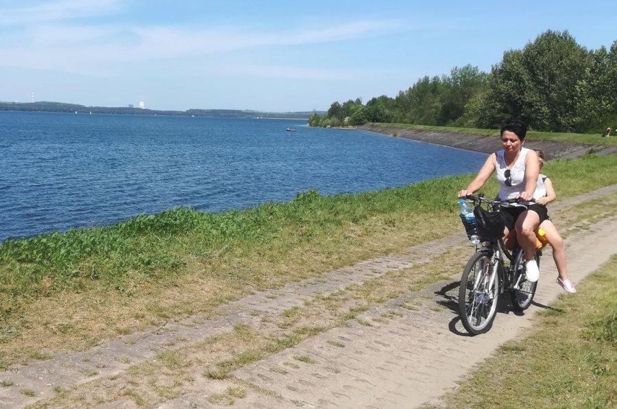 Warto wybrać się na rowerze nad zalew Dziećkowice