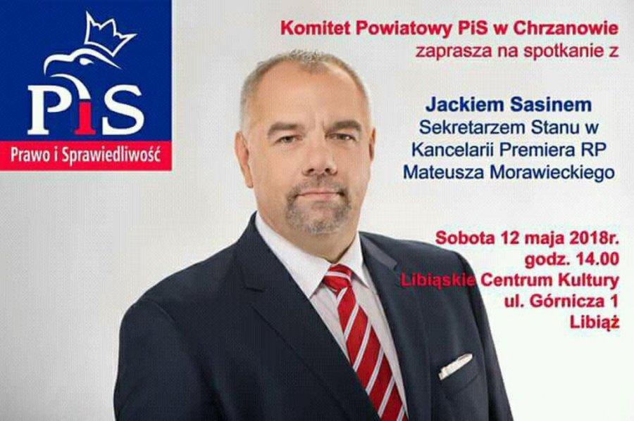 Jacek Sasin przyjedzie do Libiąża