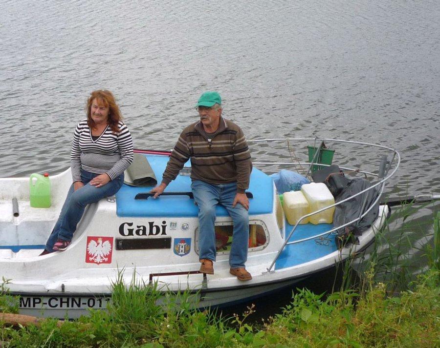 Małżonkowie wypłynęli z Bobrka. Ich cel to Gdańsk