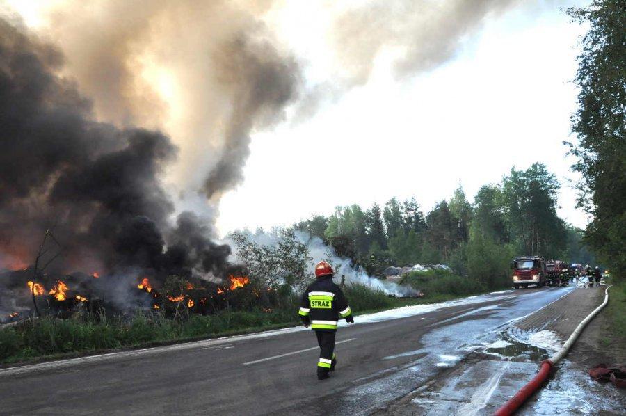 Horrendalne koszty gaszenia pożaru składowiska