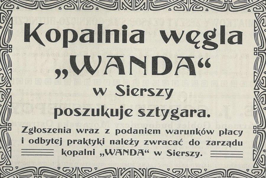 Wanda z Sierszy czekała na sztygara