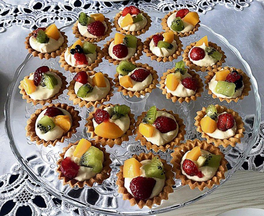 Babeczki z mascarpone i owocami