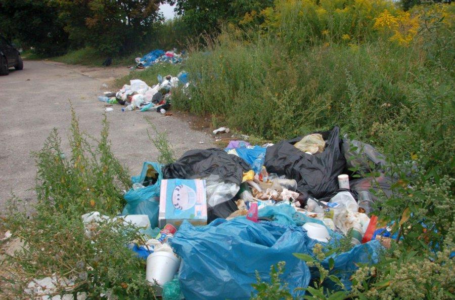 Ktoś podrzuca śmieci przy cmentarzu