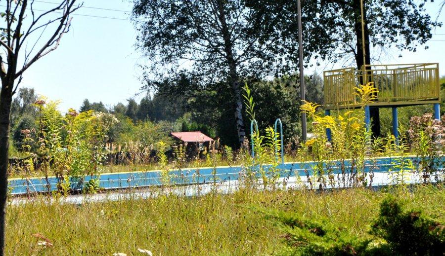 Zamknięty basen zarasta trawą (WIDEO)