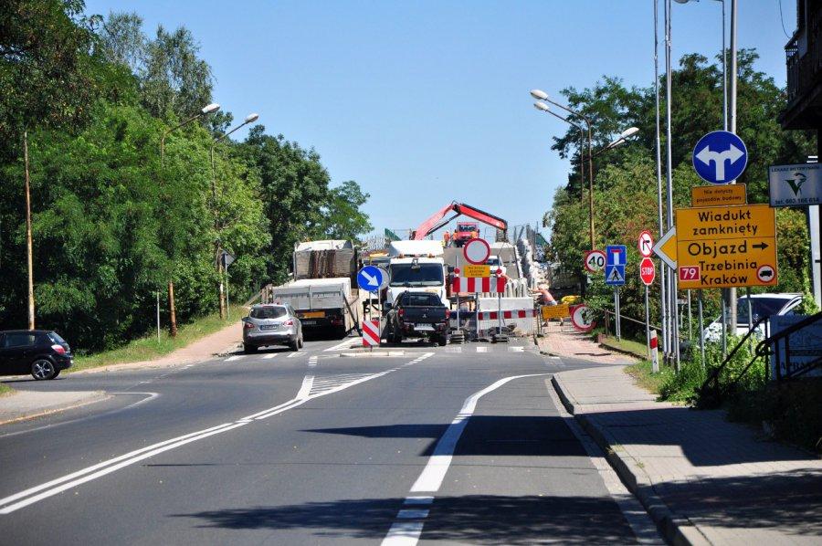 Otwarcie wiaduktu w Trzebini