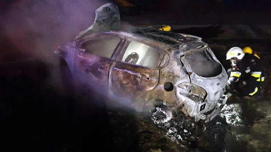 Spłonął samochód. To mogło być podpalenie