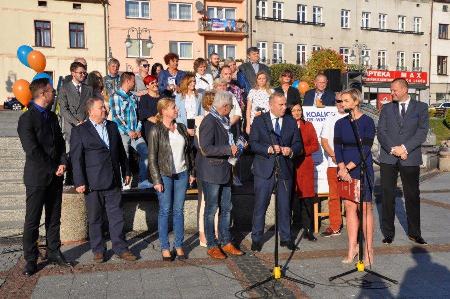 Grzegorz Schetyna na Rynku w Trzebini. Co miał do powiedzenia mieszkańcom? (WIDEO, ZDJĘCIA)