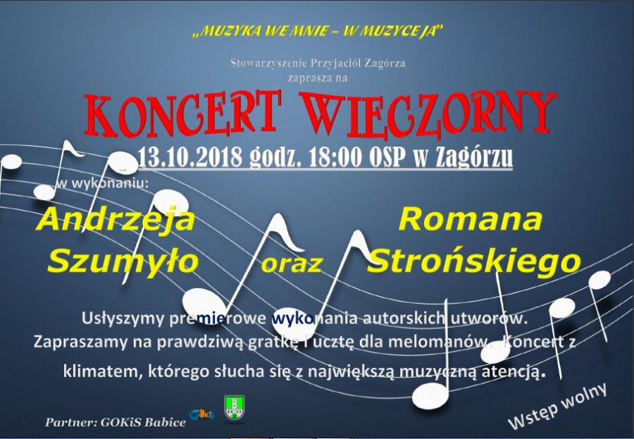 Rozśpiewane Zagórze zaprasza na dwa koncerty