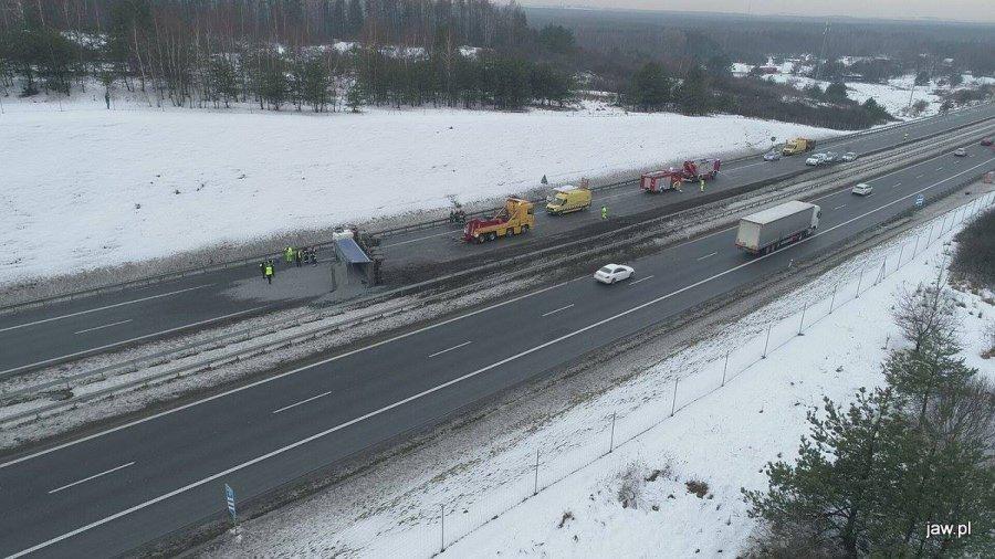 Autostrada A4 była zablokowana (ZDJĘCIA)