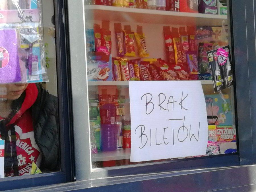 Dlaczego w kioskach nie ma biletów