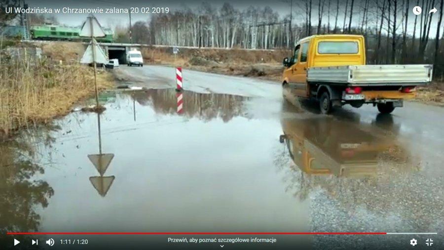 Wodzińska zalana i będzie zamknięta (WIDEO)