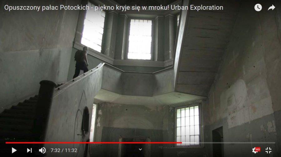 Miłośnicy przygód zwiedzili pałac i opuszczony szpitalik (WIDEO)