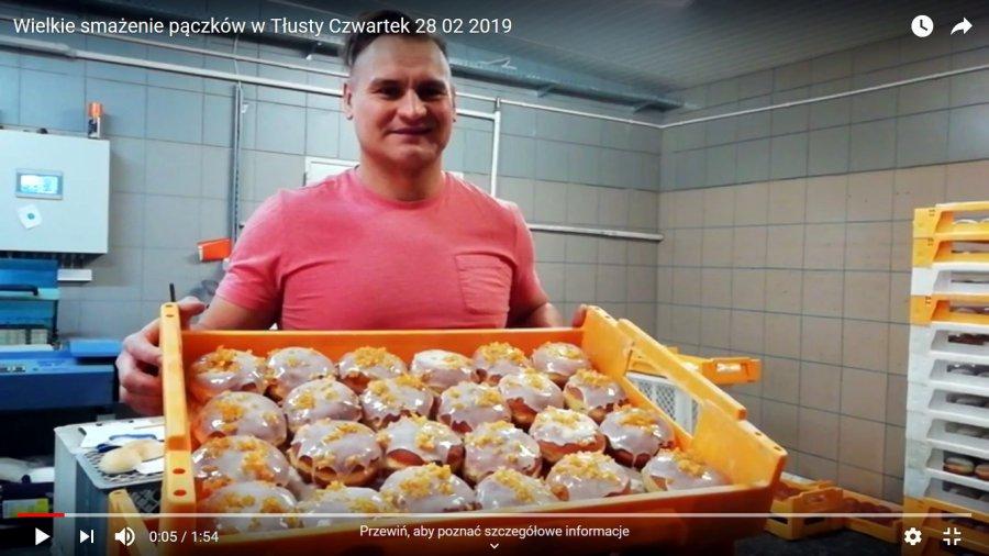 Zobacz wielkie smażenie pączków w Tłusty Czwartek (WIDEO)