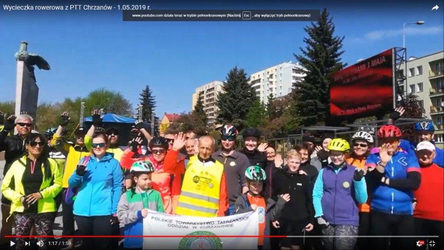 Na majówkę wybrali się na rowerach nad zalew Dziećkowice (WIDEO)