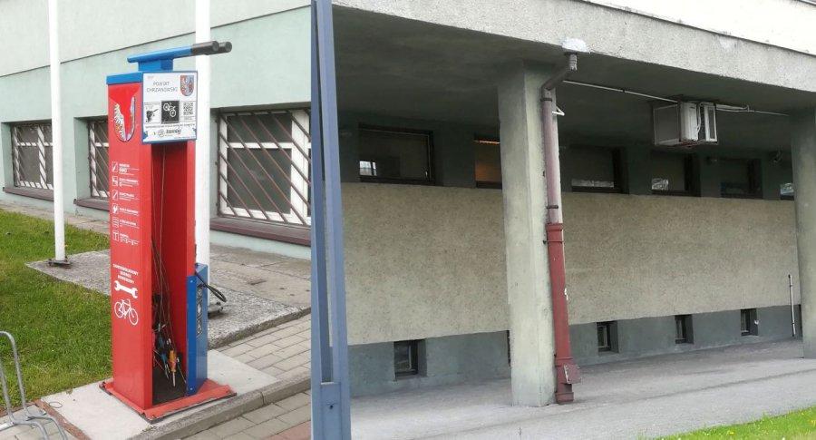 Stacja napraw dla rowerzystów zniknęła spod urzędu skarbowego