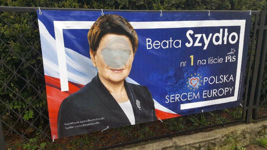 Zrywają i niszczą plakaty wyborcze