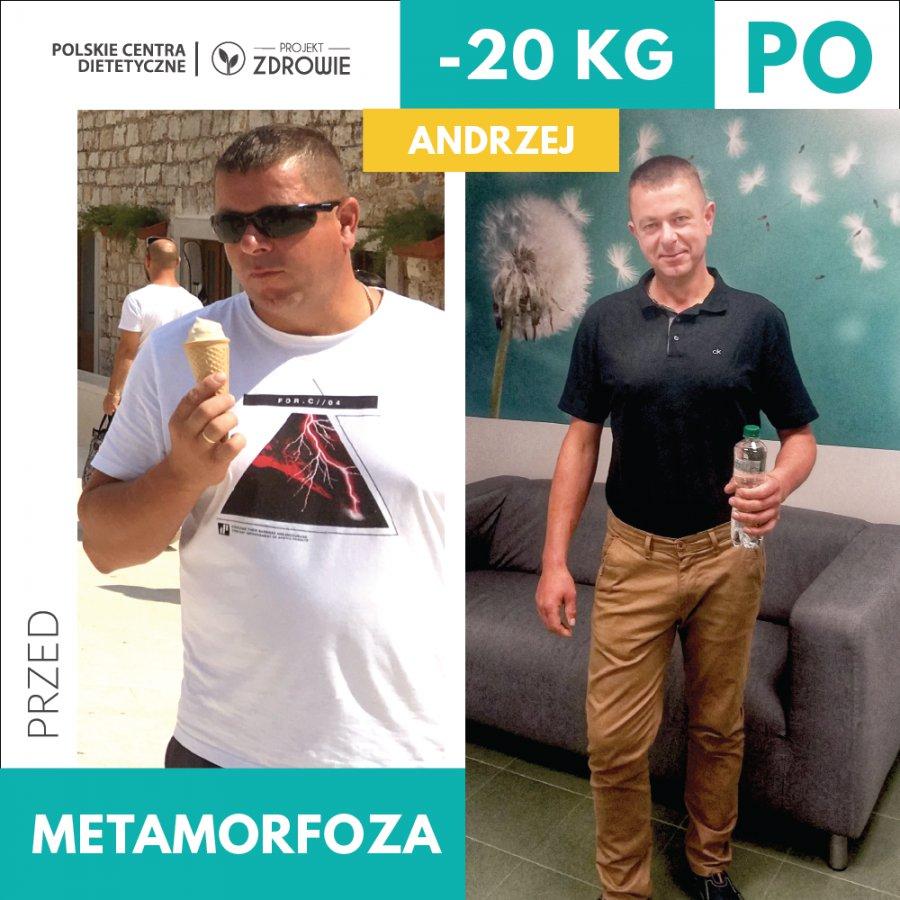 Spektakularna przemiana Pana Andrzeja - schudł 20 kg w 4 miesiące w Projekt Zdrowie!