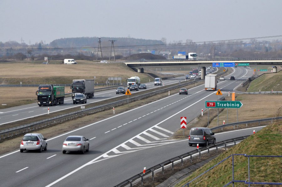 Zmiana organizacji ruchu na autostradzie A4
