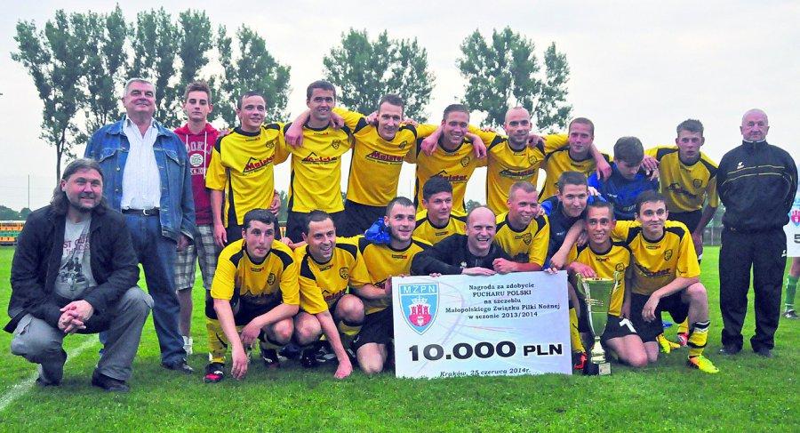 Wtedy piłkarze z Trzebini zaszaleli w rozgrywkach o Puchar Polski (ZDJĘCIA)