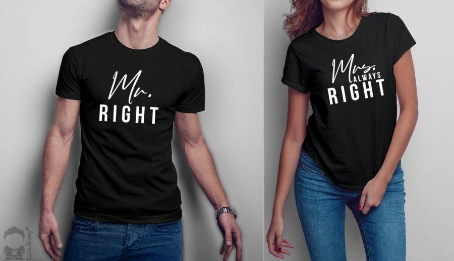 Koszulki dla par - moda dla zakochanych