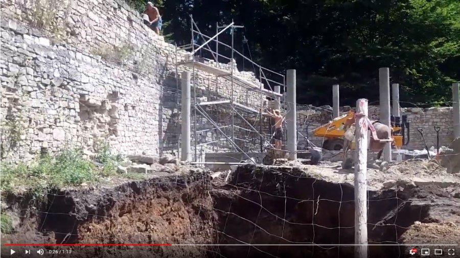 Wykopy i budowa na Lipowcu (WIDEO)