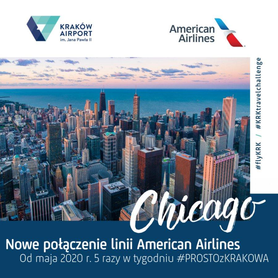American Airlines będzie latał do Krakowa i Chicago