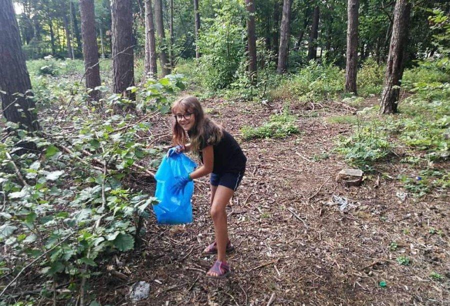 Emilka z Chrzanowa zaprasza na sprzątanie lasu