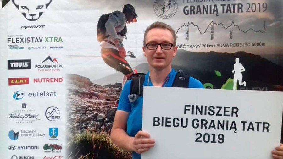 Na morderczej trasie w Tatrach biegacz z Psar spalił 13 tysięcy kalorii