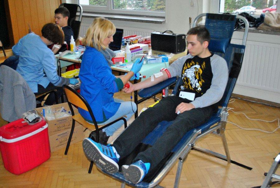 Można oddać krew w szkole
