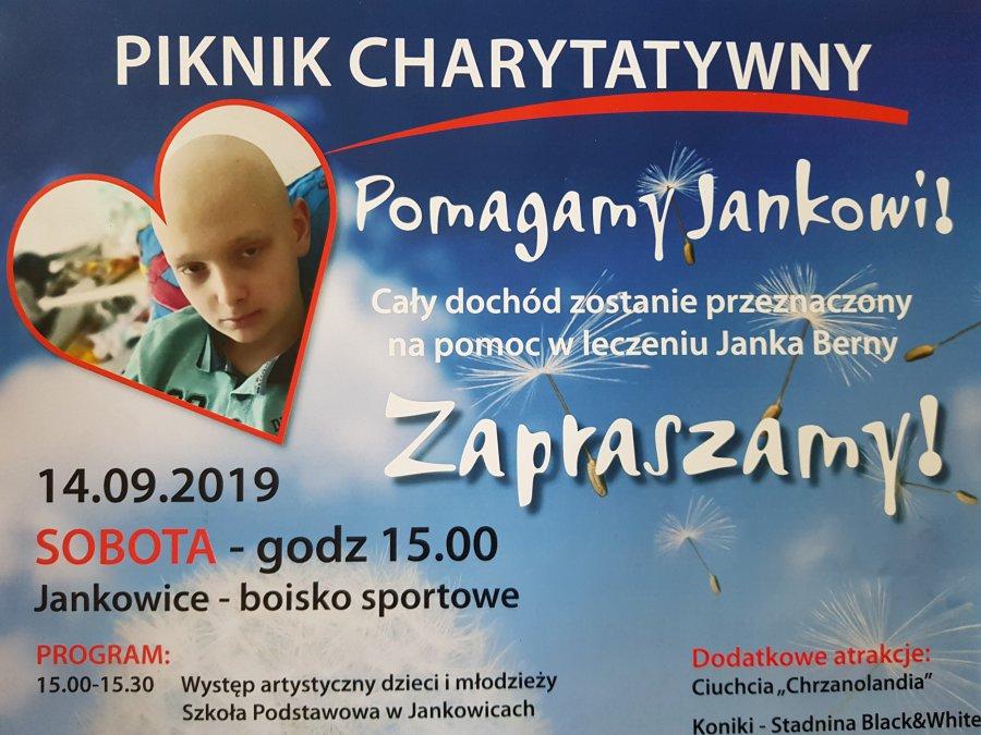Pomóżmy Jankowi walczyć z rakiem. W niedzielę kwesta do puszek